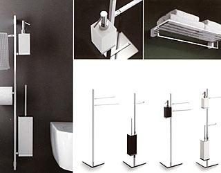 accessori bagno bianco e nero