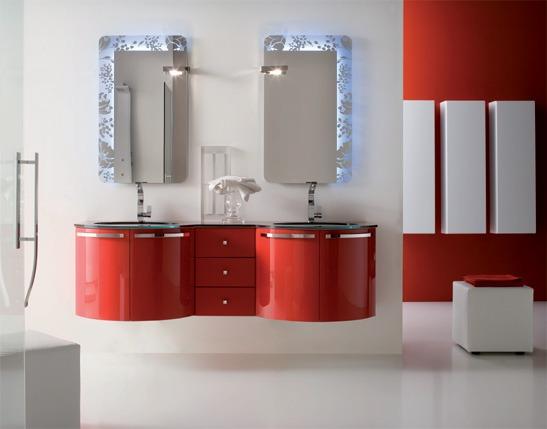 Arredamento Moderno Rosso: Da bagno bianco rosso batik mobili arredo design moderno regia.
