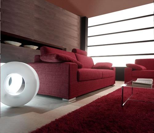 Soggiorno moderno: poltrone, divani, parete attrezzata, quadro, stampa, pavimento, tende ...