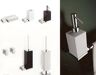 accessori bagno nella versione bianco e nero