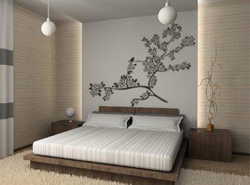 Pareti camera da letto moderna: quadri, stampe, adesivi in vinile ...
