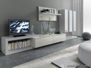 Pareti soggiorno moderno: pareti attrezzate, mobile o attacco per la ...